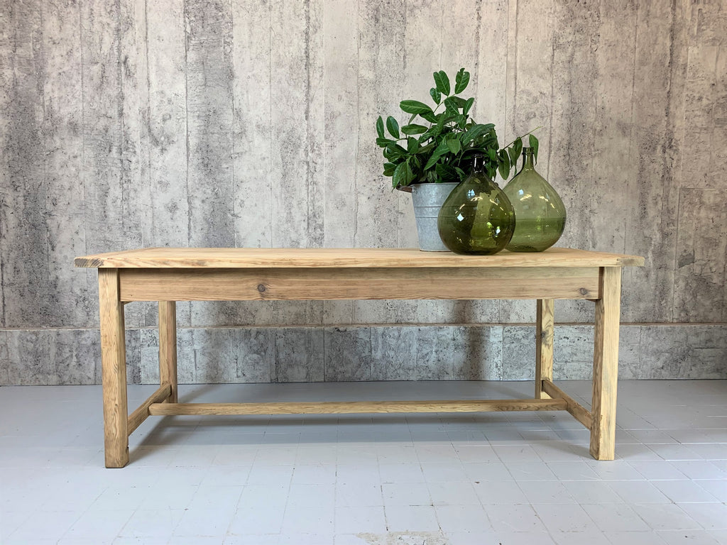 198cm Farmhouse Kitchen Dining Table with 1 Drawer