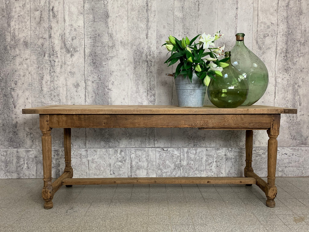 200cm Oak Farmhouse Desk Console Serving Table