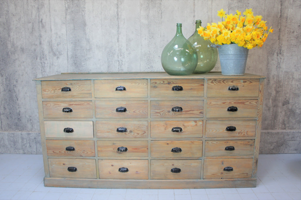 19th Century 214cm Wide Workshop Factory Drawer Storage Sideboard
