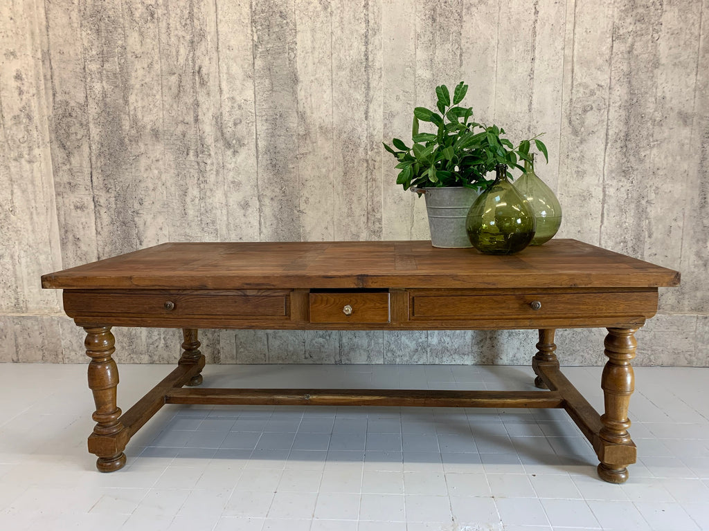 219cm x 110cm Solid Oak French Farmhouse Refectory Dining Table