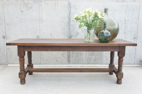 200.5cm Oak Turned Legs French Farmhouse Dining Console Table