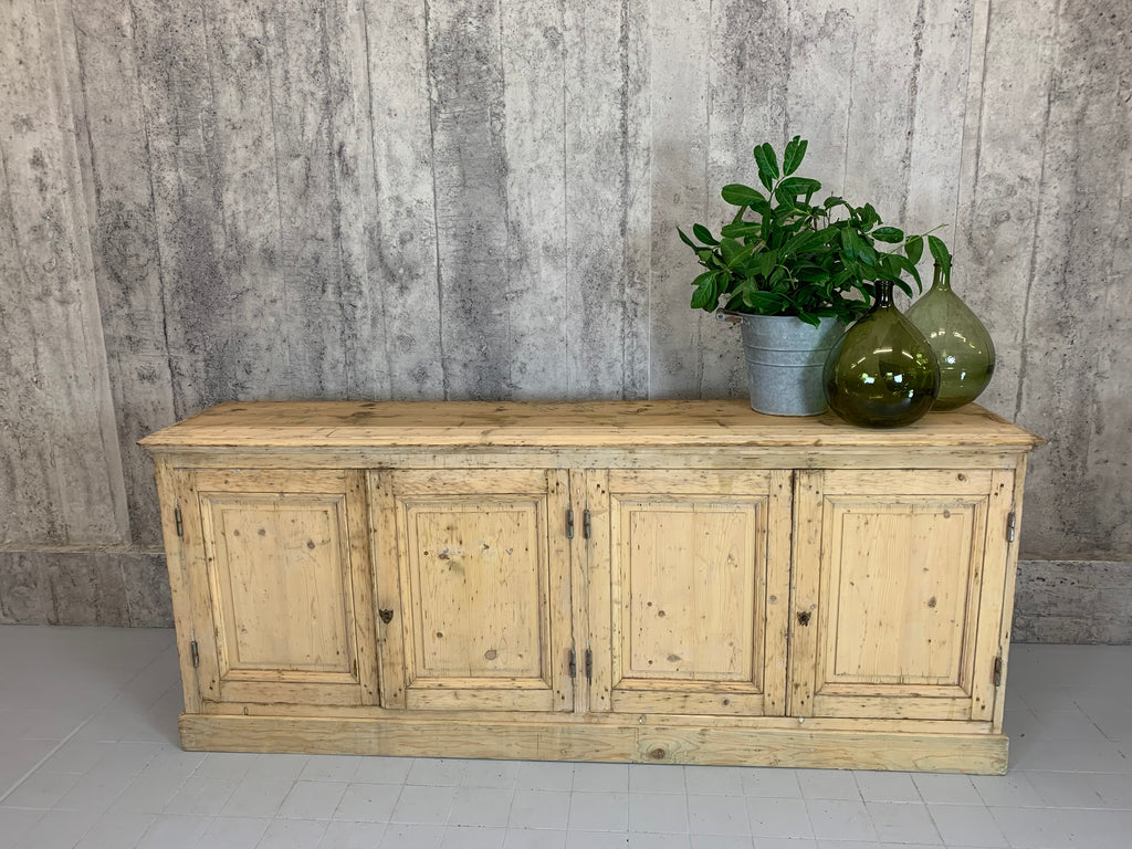 1900's 260cm Hardware Store Counter Sideboard Cupboard