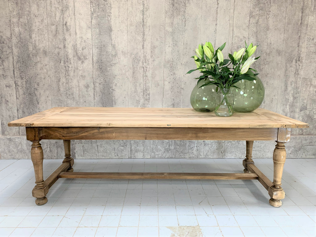 240cm French Walnut Wood Farmhouse Refectory Dining Table
