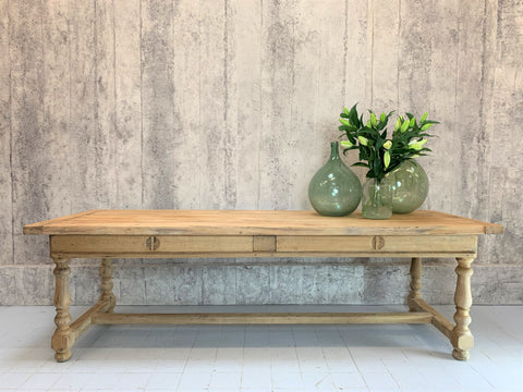 249.5cm Oak Farmhouse Refectory Dining Table