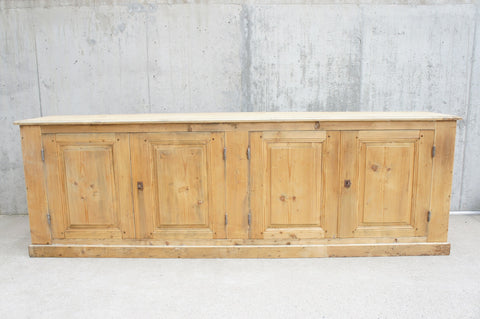 1930's 265cm Hardware Store Counter Sideboard Cupboard