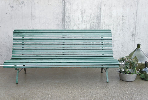 2m long Green, French, Garden Bench
