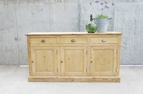 1920's 184.5cm 3 Door 3 Drawers Restaurant Counter Sideboard Cupboard