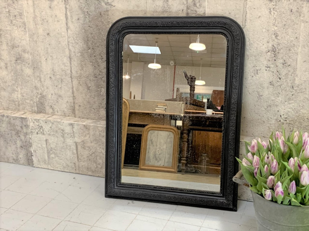 Black 90cm High Louis Phillippe Mirror