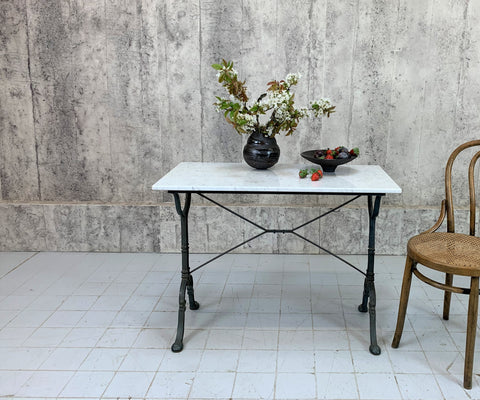 'Godin' Marble and Cast Iron Kitchen Bistro Table