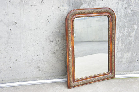 Amber Coloured Louis Philippe Mirror