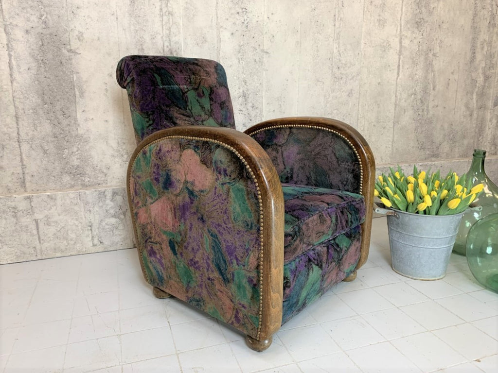 Art Deco Solid Wood Frame Armchair to Reupholster
