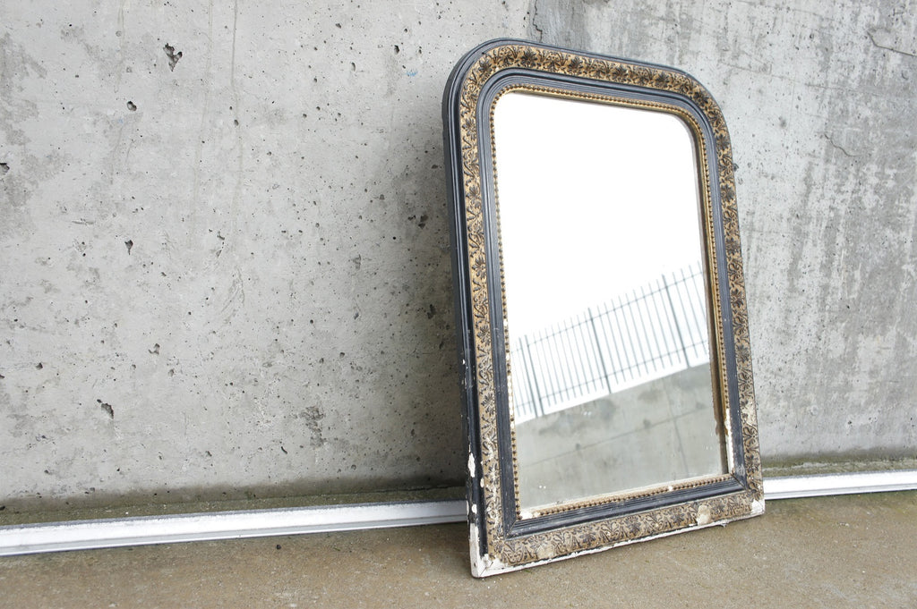 Black Louis Philippe Small Mirror