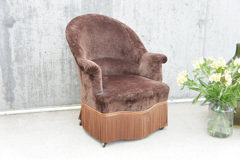 19th Century French Crapaud Tub Armchair To Reupholster