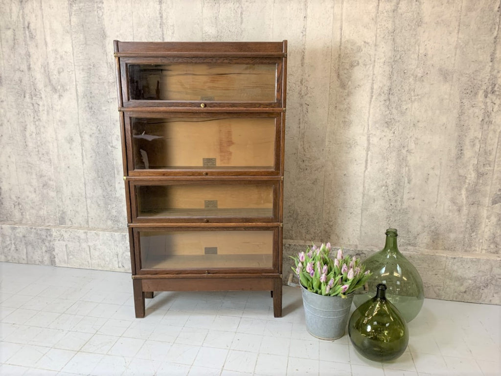 Globe-Wernicker Sectional Glass Front Bookcase Display Cabinet