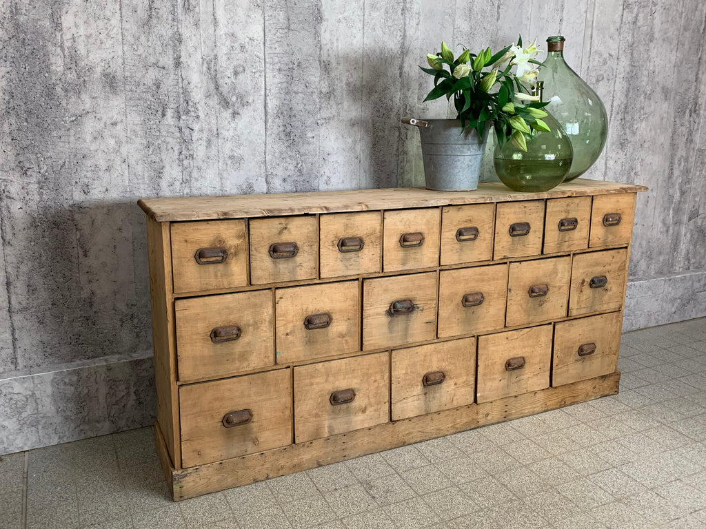 1800's Grain Store Sideboard Drawers