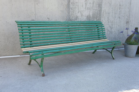 199.5cm Green, French, Garden Bench