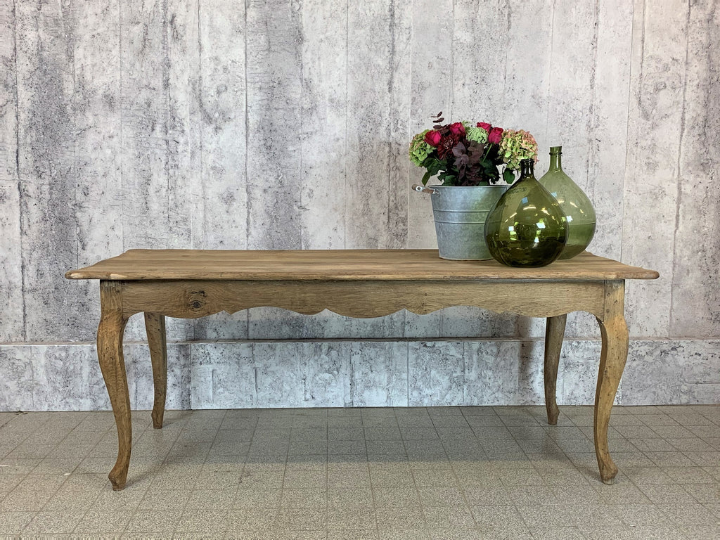 185cm Long Louis XV Style Solid Oak Dining Table Desk