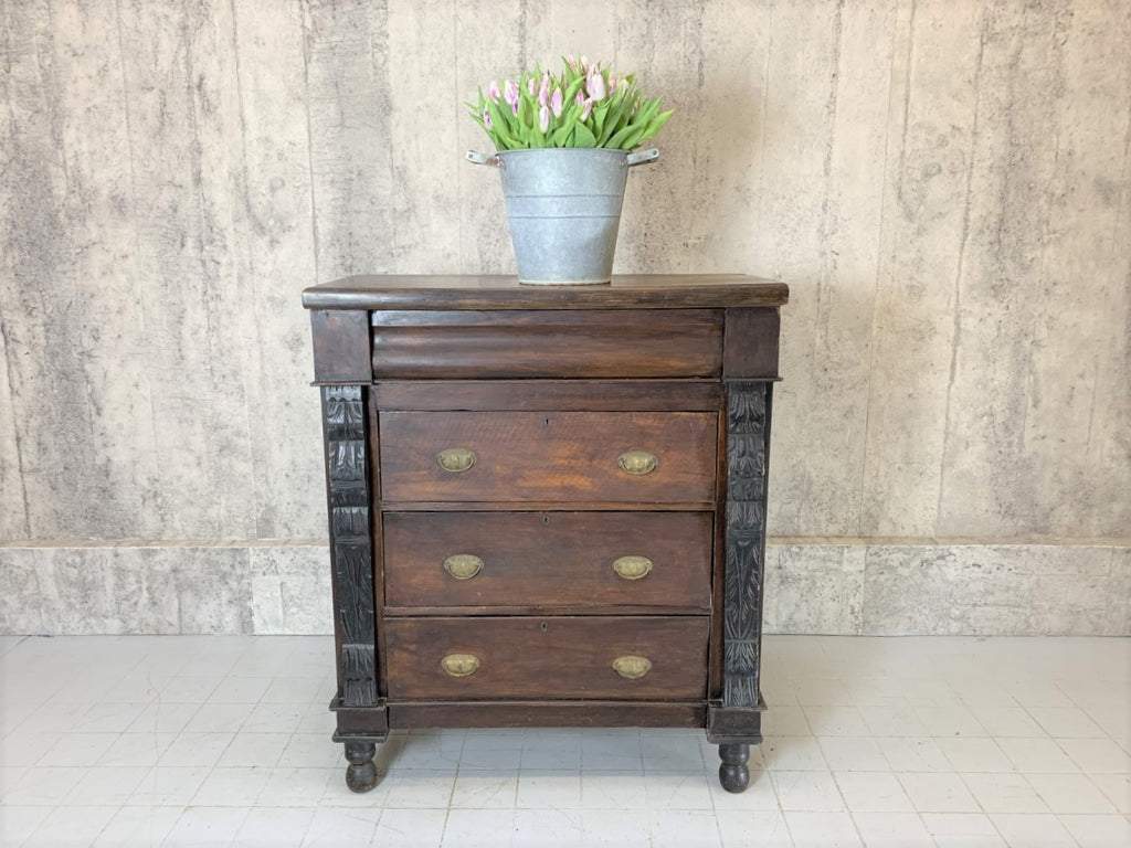 100.5cm Wide Four Drawer Mahogany Chest of Drawers