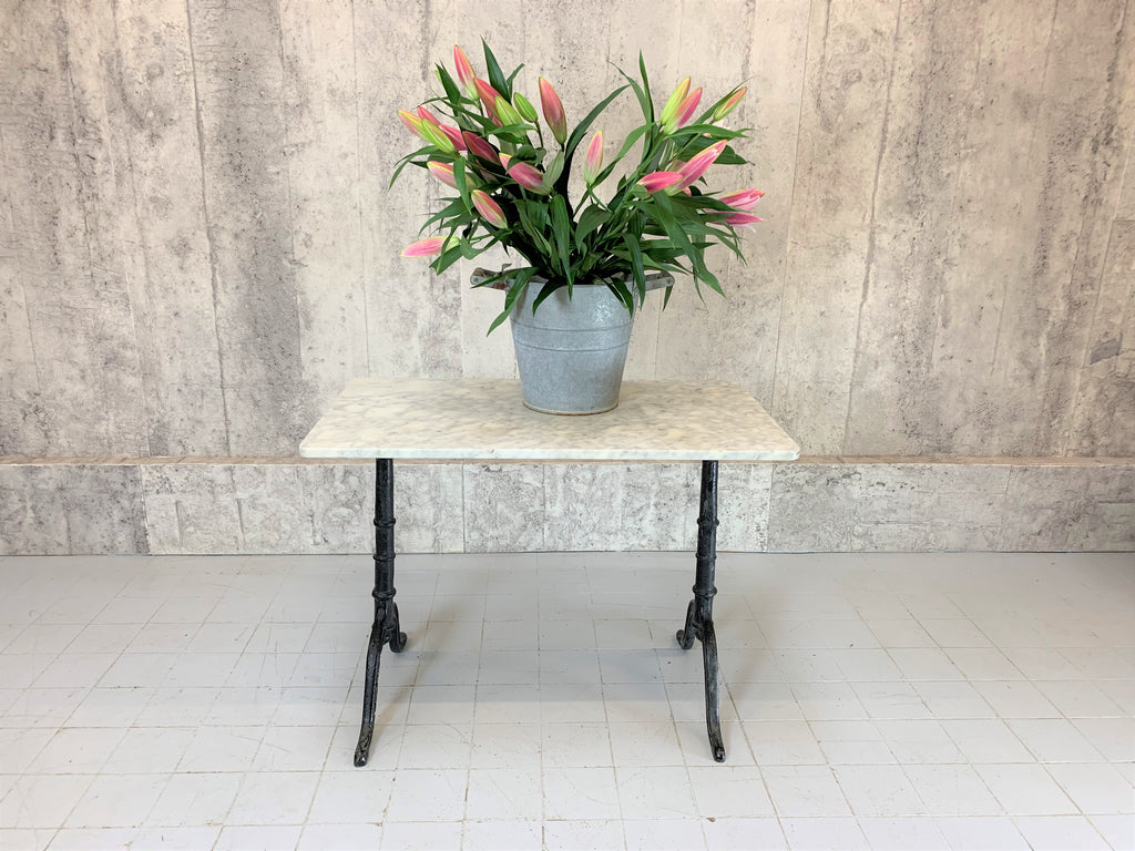 Marble and Cast Iron Kitchen Bistro Table