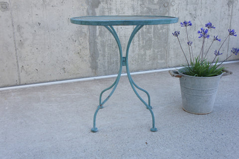 Mid Century Metal Gueridon Garden Bistro Table Side Table