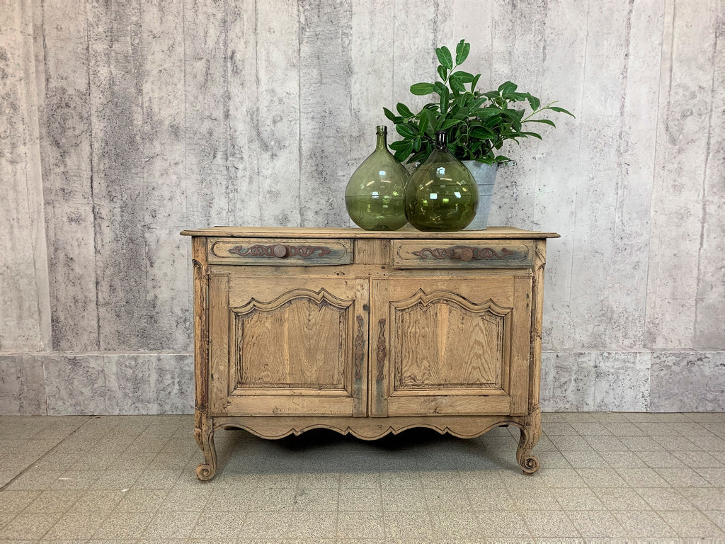 Rustic 19th Century Solid Oak French Decorative Side Board / Cupboard