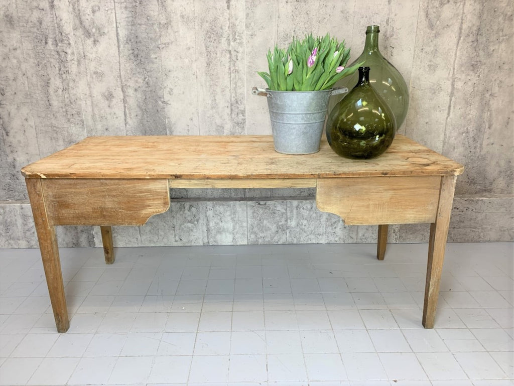 176cm Very Rustic French Taper Leg Desk Console Table