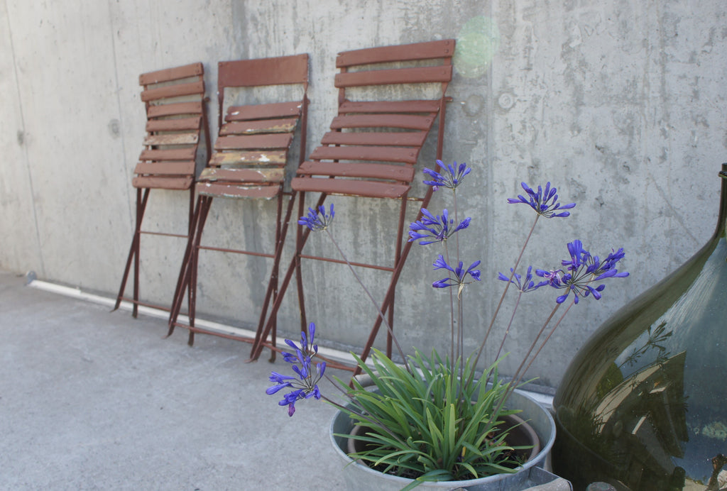 Set of 3 Painted Folding Bistro Chairs