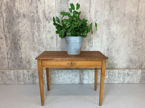 99.5cm Tapered Leg Table Desk with Wide Drawer