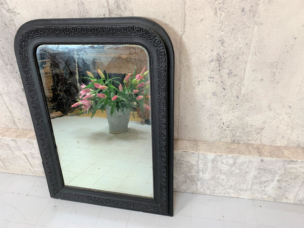 92cm High Black Louis Phillippe Mirror
