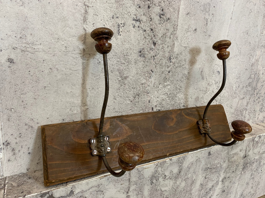 Portmanteau Two Mounted Coat Hooks