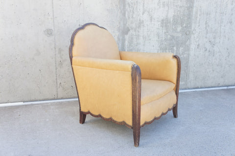 Art Deco Scalloped 1930's Armchair to Reupholster