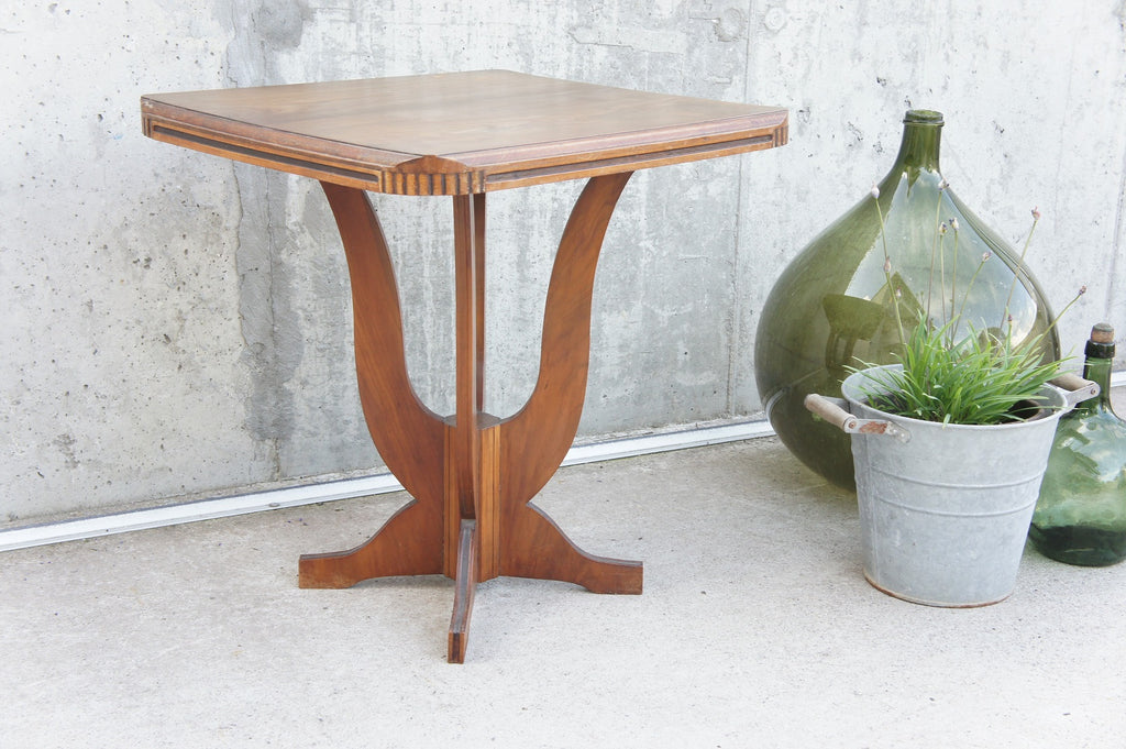 Square Art Deco Gueridon Side Table