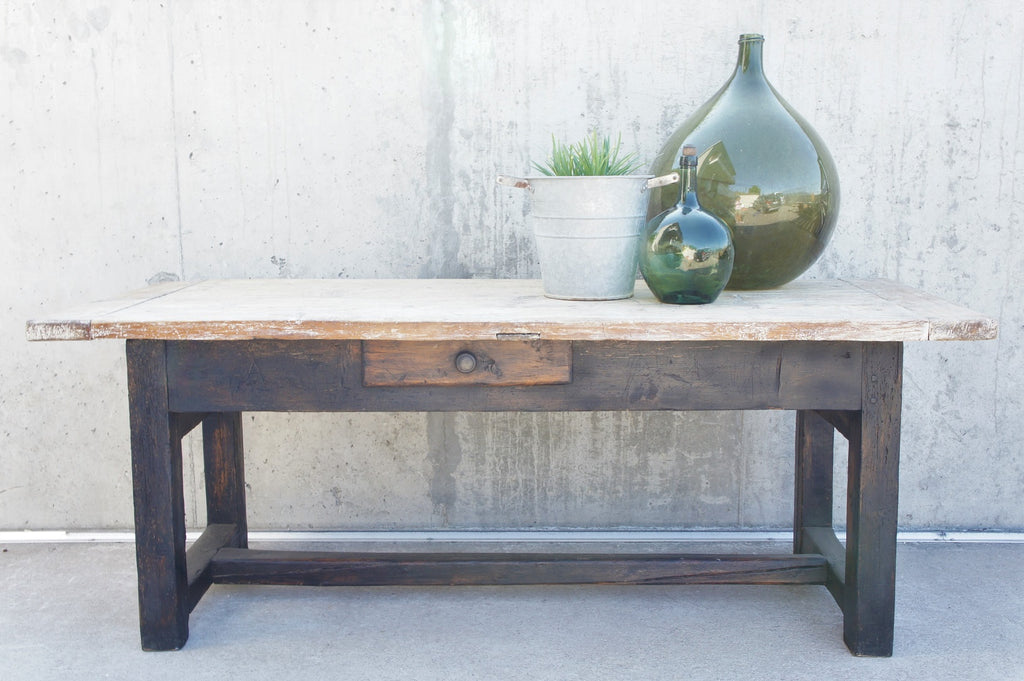 Rustic Black Legged Work Bench / Console Table / Dining Table