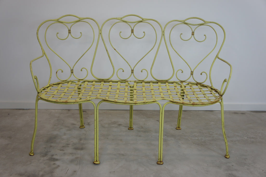 1870's Wrought Iron Garden Bench