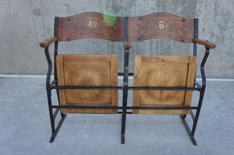 19th Century Metal and Wooden Cinema Seats