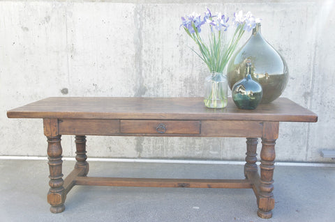 214.5cm Oak Farmhouse Refectory Dining Table