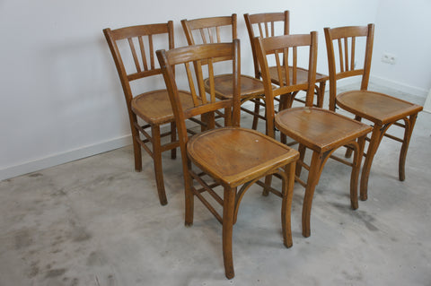 Set of 6 Mid Century Luterma Church Bistro Chairs