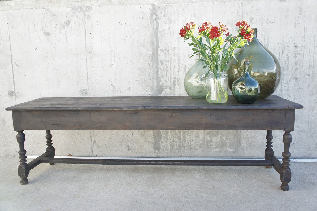 Black Rustic Shop Counter / Console Table / Sideboard