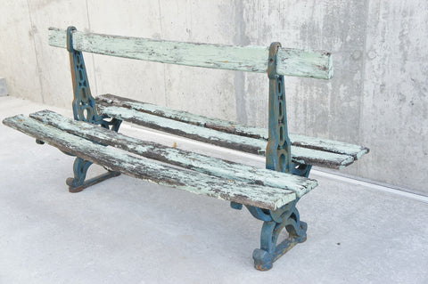 1920's Cast Iron Double Park Bench