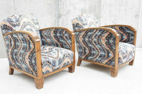 Pair of Art Deco Armchairs to Reupholster