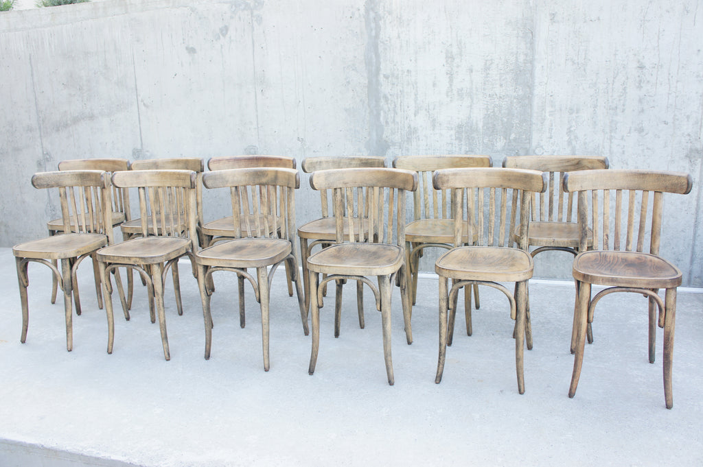 Set of 11 Bentwood Bistro Chairs