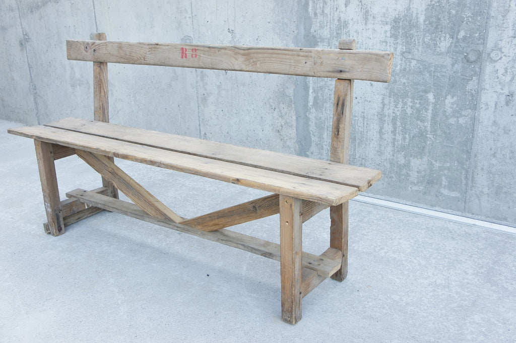Rustic Wooden Bench