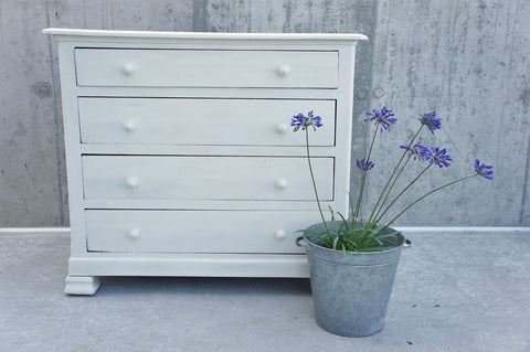 19th Century White Chest of Drawers