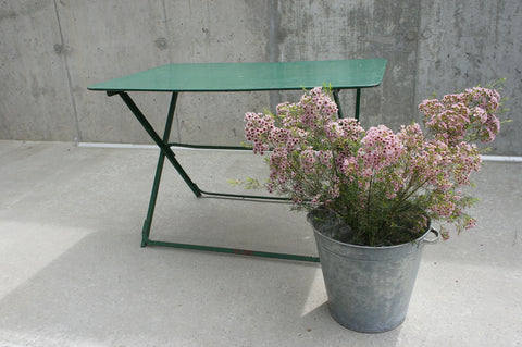 Folding Metal Green Garden Table