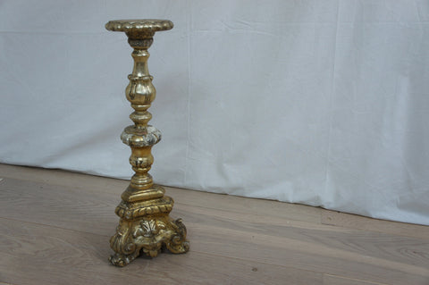 Gilded Wood Church Candle Stick
