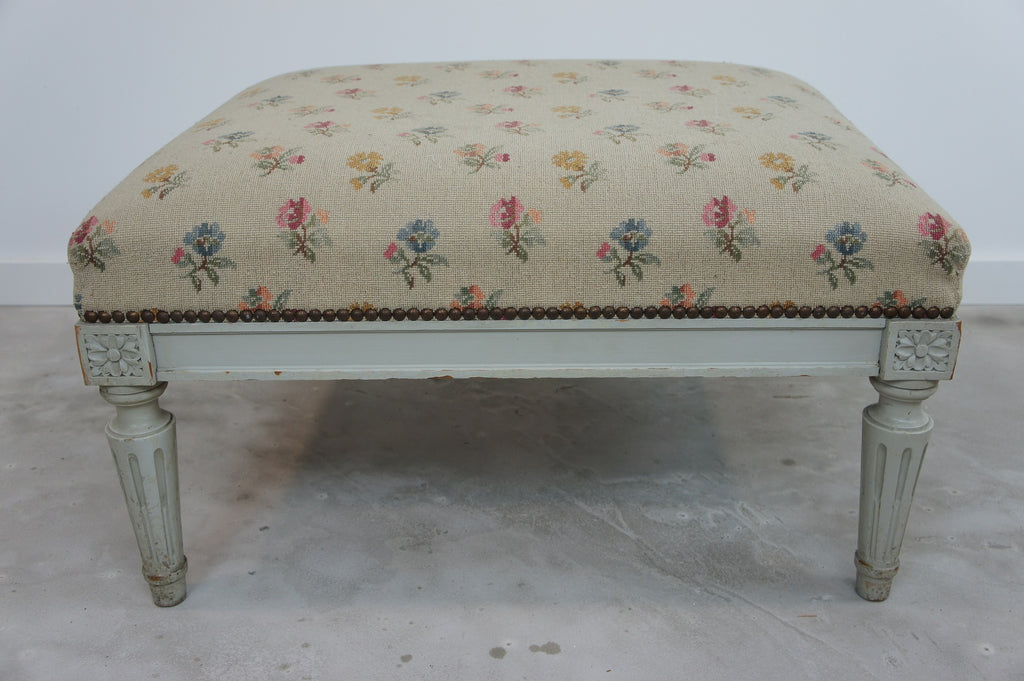 louis xvi style shabby chic footstool vintage french rh vintagefrench com shabby chic furniture footstool shabby chic furniture footstool