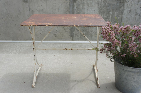 Metal White Garden/Console Table