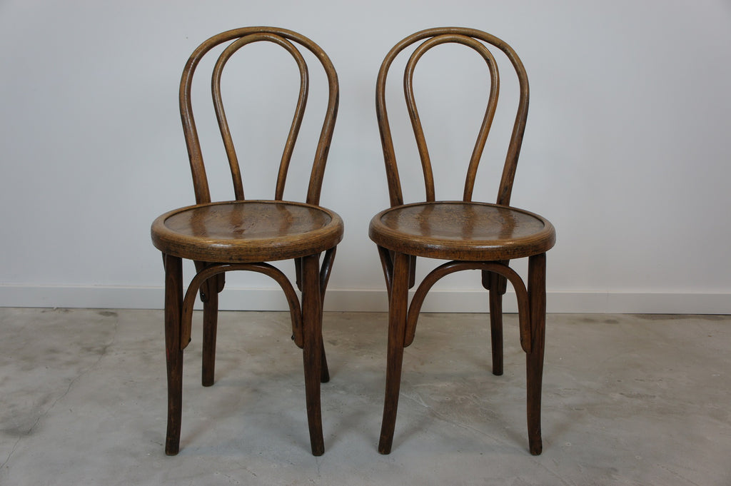 Pair Bentwood French Bistro Chairs