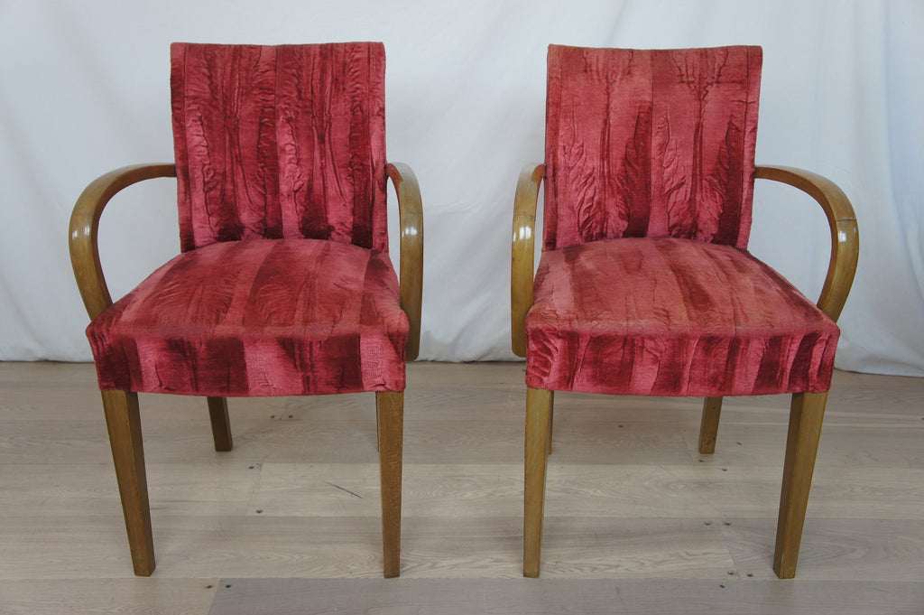 Pink Mid Century Bridge Chairs ready to reupholster