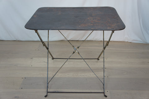 Metal Rectangular Folding Garden Table (original Patina)